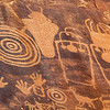 Closeup of high Fremont petroglyphs, Bears Ears National Monument and environs, San Juan County,  Utah