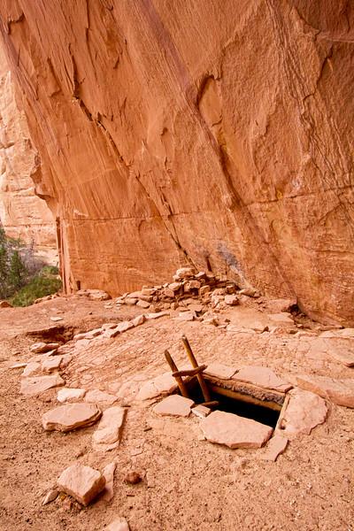 Ancestral Puebloan kiva, Bears Ears National Monument and environs, San Juan County, Utah