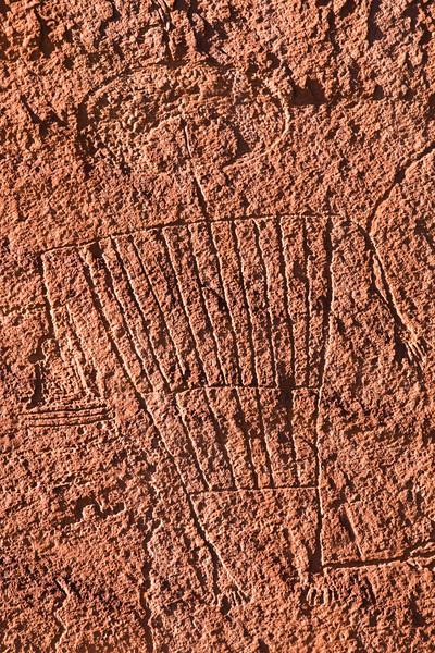 Intricate anthropomorph, San Juan Anthropomorphic Style Basketmaker petroglyphs, Bears Ears National Monument and environs, San Juan County, Utah
