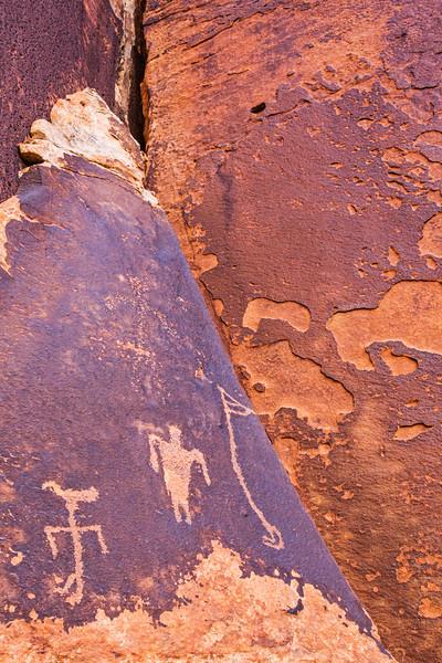 Basketmaker 'duck-headed' figure and flute player, Bears Ears National Monument and environs, San Juan County,  Utah