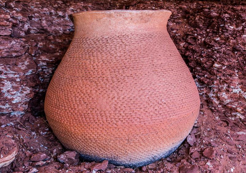 Ceramic vessel, Mesa Verde Corrugated, Bears Ears National Monument and environs, San Juan County, Utah