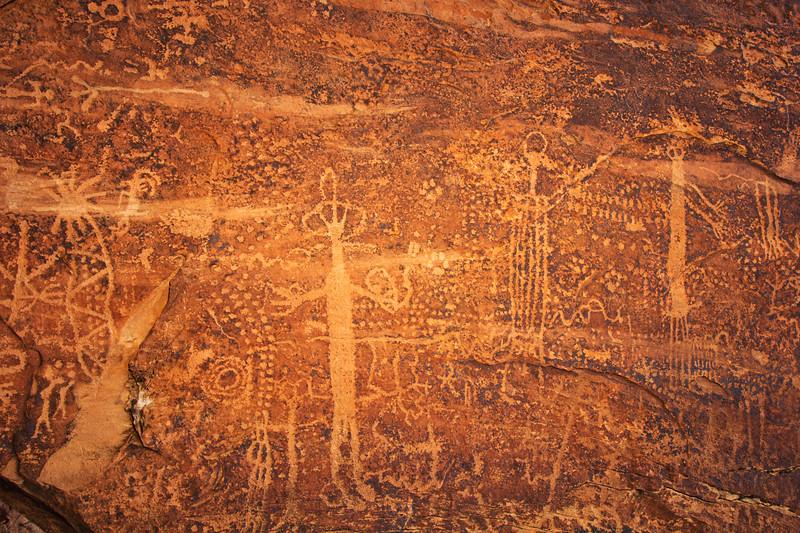 Archaic period petroglyphs on fallen boulder , Bears Ears National Monument and environs, San Juan County, Utah