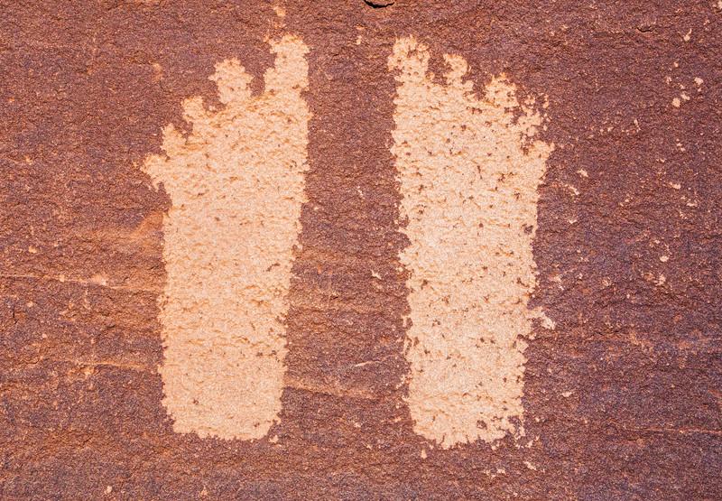 Ancestral Puebloan feet petroglyphs, Bears Ears National Monument and environs, San Juan County, Utah