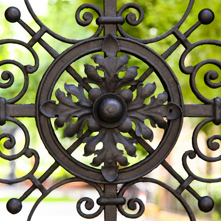 Detail from a gate leading into a 19th century courtyard, Kreuzberg.