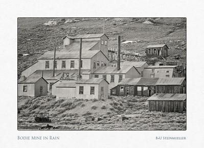 Bodie Mine in Rain