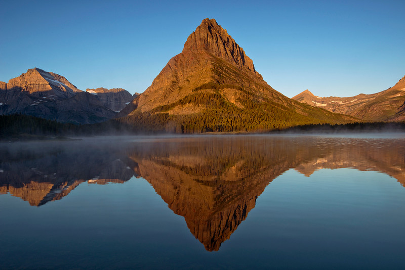 Swiftcurrent Lake and Mount Grinnell at Sunrise, Glacier National Park, Montana