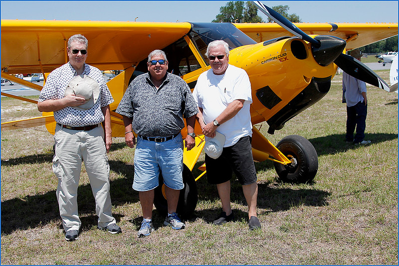 PHIL RENARD, DENNIS SPITALERI, AND JACK LOCKWOOD WITH A CARBON CUB EX