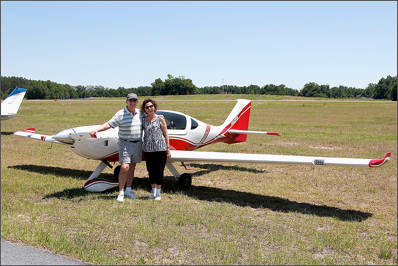 PAUL AND KATHY BRYANT WITH THE 2008 ARION AIRCRAFT LIGHTING (N82PB)