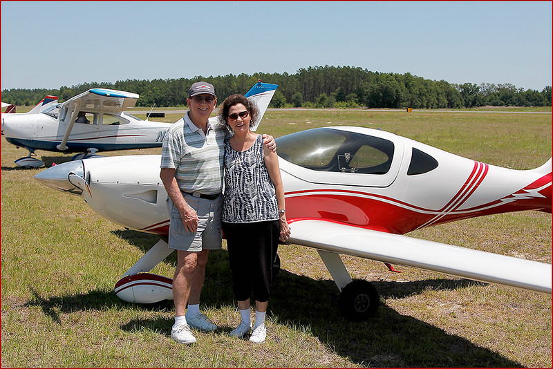PAUL AND KATHY BRYANT WITH THE 2008 ARION AIRCRAFT LIGHTING (N82PB) - (2)