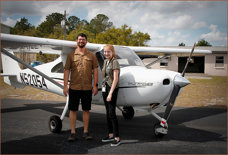 2019-03-09 YOUNG EAGLES RALLY - COLIN ARNOLD (CESSNA 162 SKYCATCHER) AND YOUNG EAGLE (4)