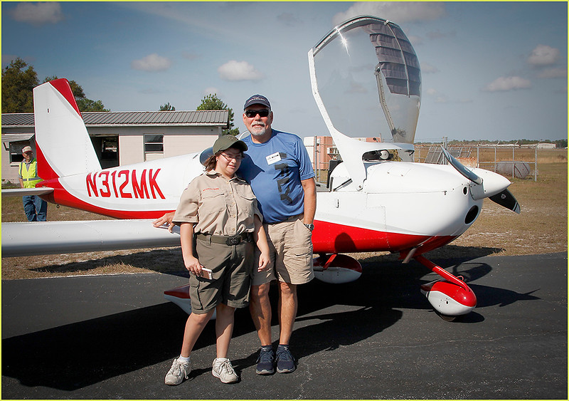 2019-03-09 YOUNG EAGLES RALLY - MARTY KELLER (RV12) AND YOUNG EAGLE (2)