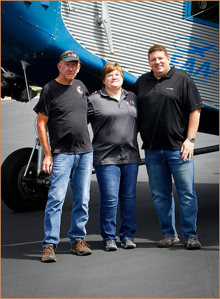 2020-03-02 EAA FORD TRI-MOTOR AT GLOBAL JET CARE (CORPORATE SPONSERS - TOM, CHRISTINA, AND BART GRAY)