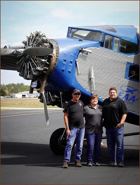 2020-03-02 EAA FORD TRI-MOTOR AT GLOBAL JET CARE (CORPORATE SPONSERS - TOM, CHRISTINA, AND BART GRAY - 2)