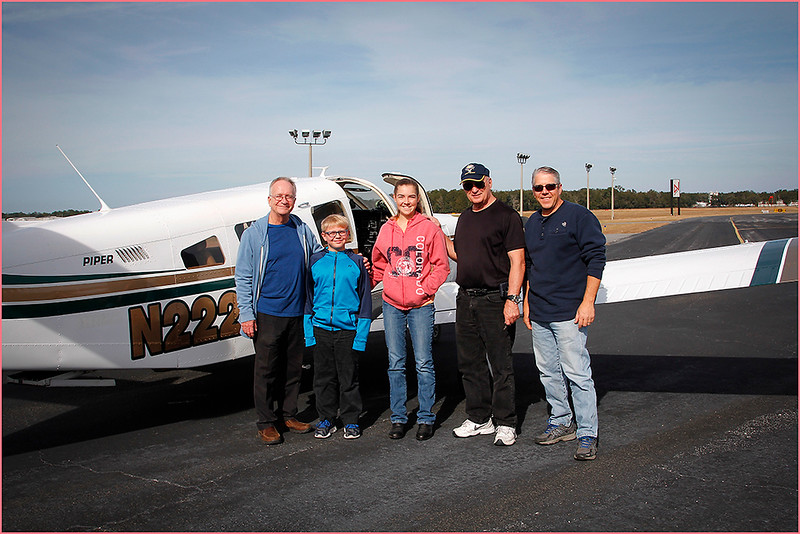 2018-12-08 PIPER LANCE PILOT DON, A GROUP OF YOUNG EAGLES, AND PARENTS