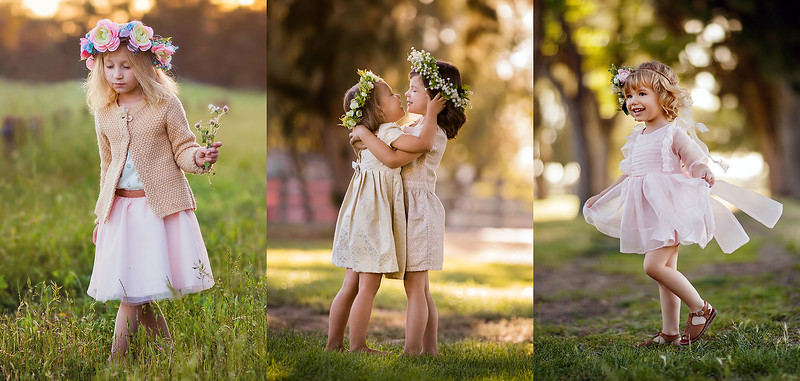 Sacramento children photographer during outdoor portrait session. Kids pictures by Bidun Studio Photography.