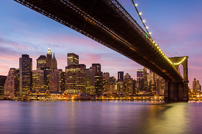 'Big City Nights' - Brooklyn Bridge, New York City