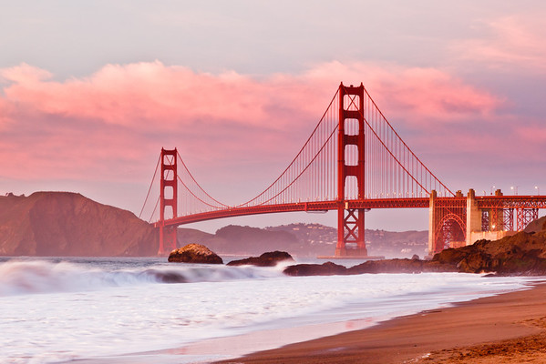 Painted Golden Gate