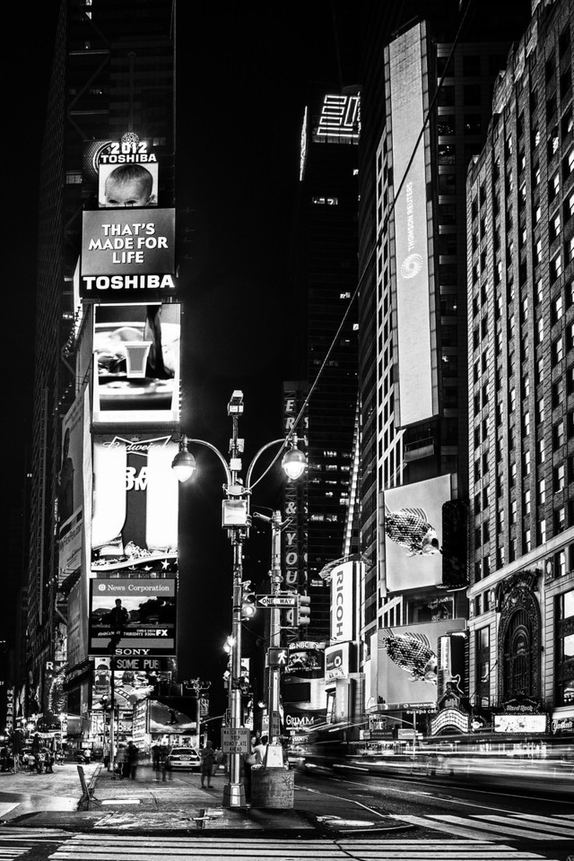 Late Night at Times Square