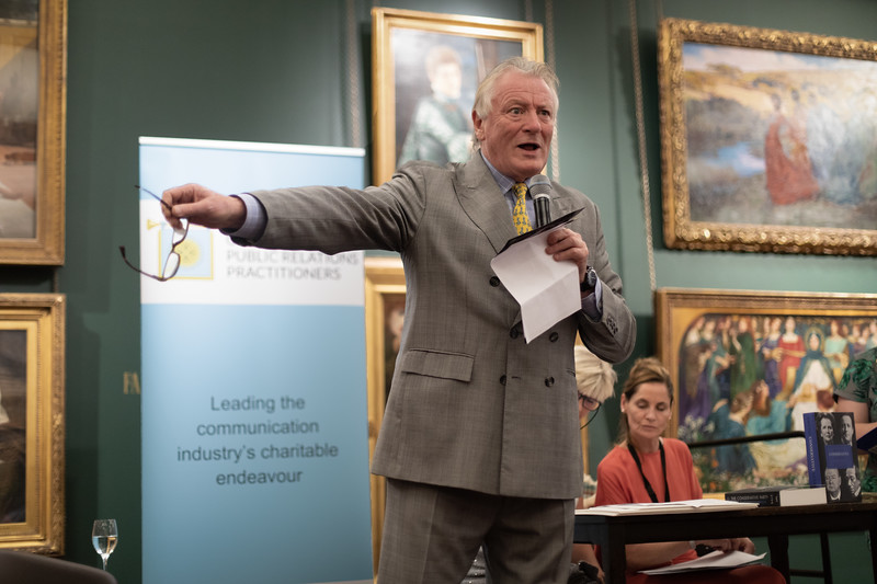 Nick Bonham at PR Practioners Guildhall charity auction
