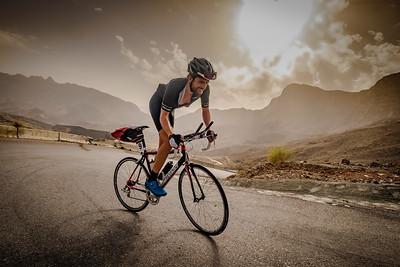 Bikingman Oman Ultra Cycling race 2019, Oman. Jonas Deichmann