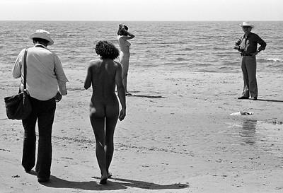 Caminando en la arena