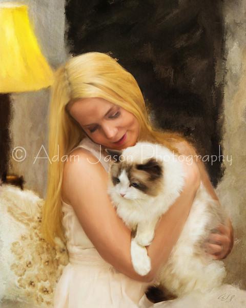 Christine with Cat