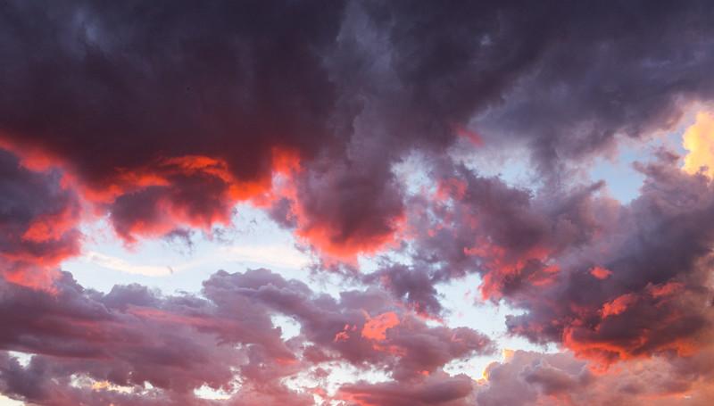 Clouds above Capitol Reef National Park, Wayne County, Utah