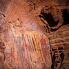 Anthropomorphic and abstract polychromatic pictographs, Archaic period, Escalante / Grand Staircase National Monument, Garfield County, Utah