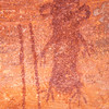 Alcove pictographs, Archaic period, Escalante / Grand Staircase National Monument, Garfield County, Utah