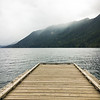 Dock at Lake Crescent, Olympic National Park, Port Angeles, WA USA