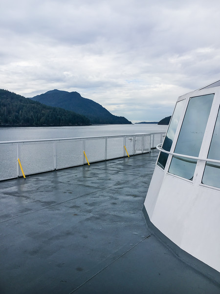 BC Ferries deck view of Howe Sound, British Columbia, Canada