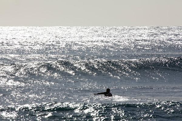 Surfer, Makaha Beach, Oahu, Hawaii, USA