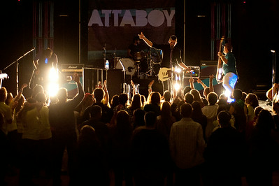 Oct 15, 2011; Bloomfield Hills, MI, USA; Attaboy performs at a  Pro-Life Youth Conference at Marian High School.  Mandatory Credit: Tim Fuller