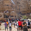 The crowd spread over the wadi, high and low.