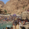 The crowds in Wadi Ash Shab