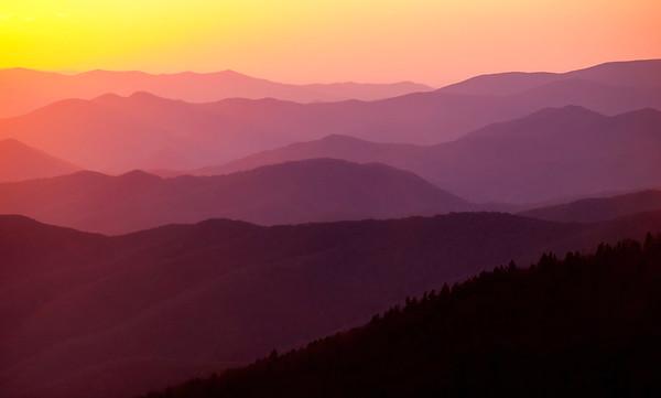 Klingmans Dome Sunset, Great Smoky Mountain N.P.