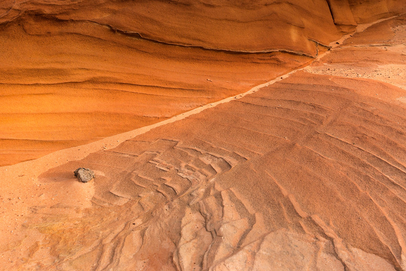 Sand and rock detail, White Pocket, Vermillion Cliffs National Monument, Arizona