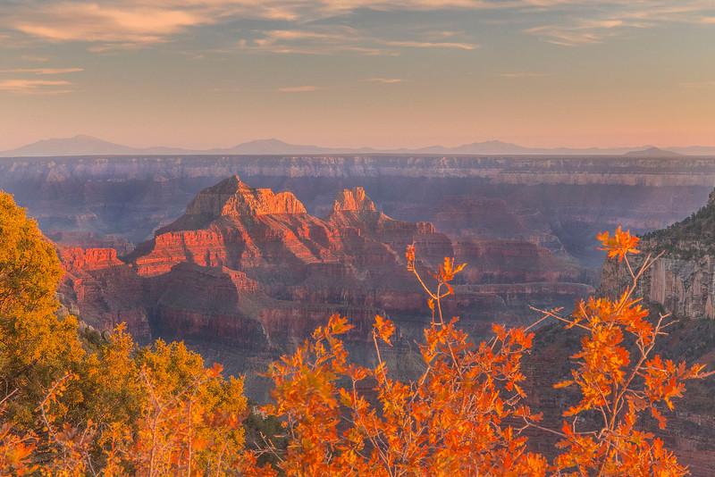 Fall Sunset, Campground, North Rim, Grand Canyon National Park, Arizona