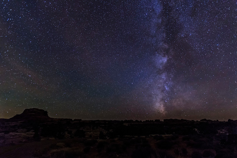 Milky Way over the Needles, Needles Unit of Canyonlands National Park, Utah