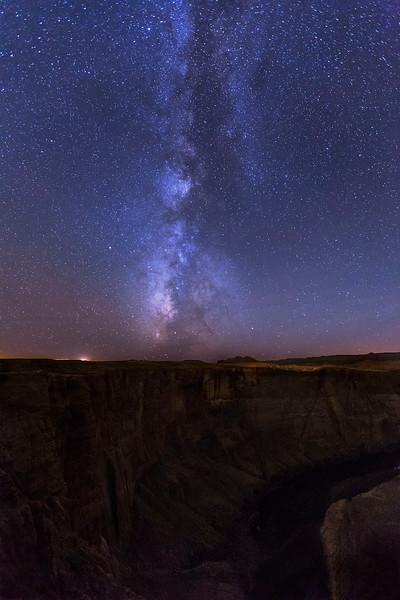 Milky Way, Horseshoe Bend, Colorado River, Arizona