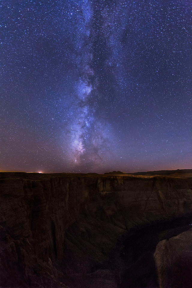 Milky Way, Horseshoe Bend, Colorado River, Arizona
