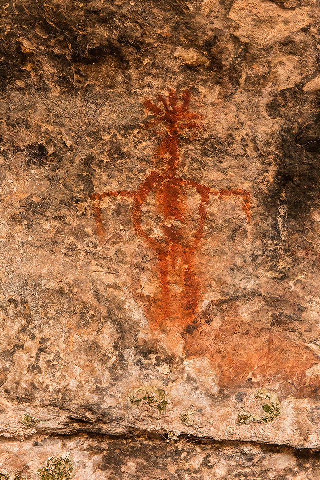 Petroglyph, Spring Cave trail, Needles Unit of Canyonlands National Park, Utah
