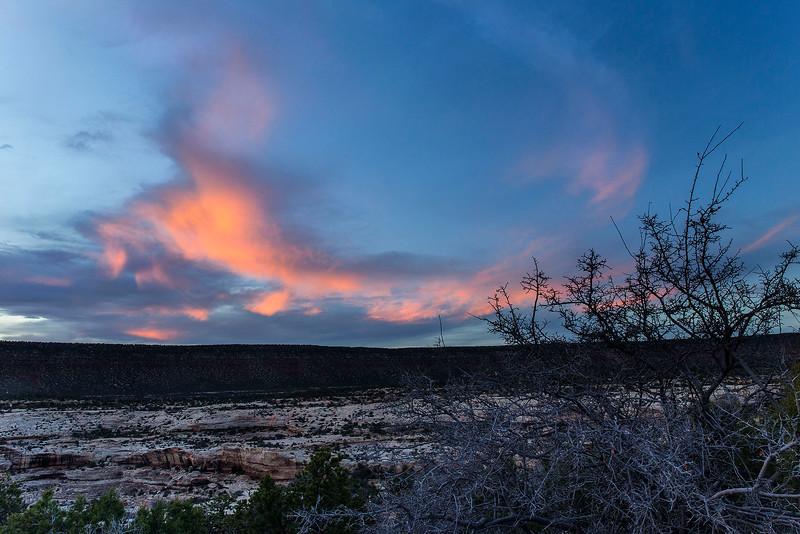 Sunset, White Canyon, Natural Bridges National Monument, Utah