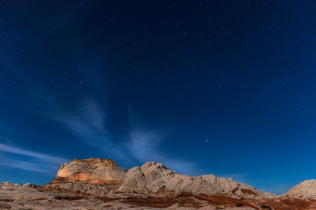 Moon light on White Pocket Butte, White Pocket, Vermillion Cliffs National Monument, Arizona