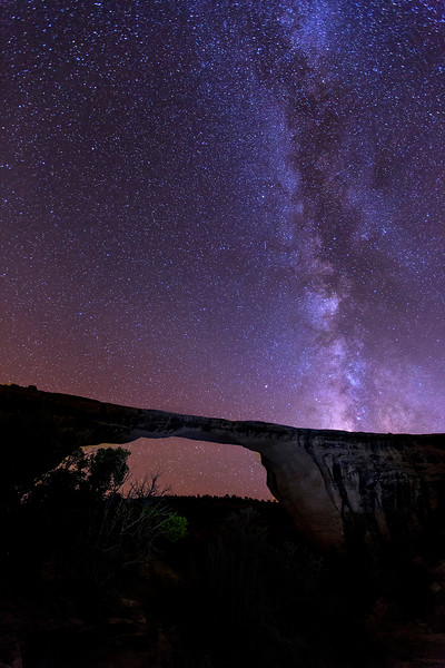 Milky Way, Owachomo Bridge, Natural Bridges National  Monument, Utah