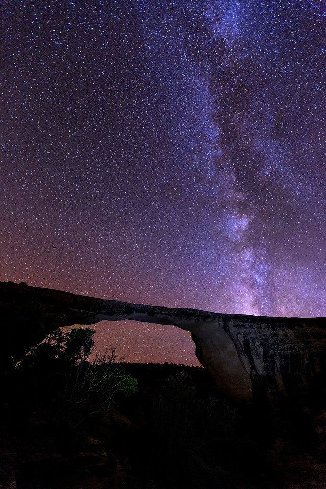 Milky Way, Owachomo Bridge, Natural Bridges National  Monument, Utah