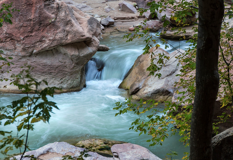 Small cascades, Virgin  River, Zion National  Park, Utah