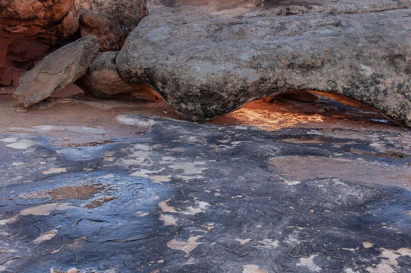 "Tiny Arch (9""), Potholes, Needles Unit of Canyonlands National Park, Utah"