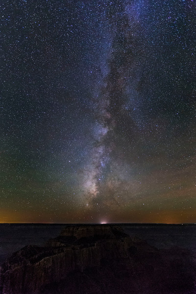 Milky Way over the South Rim, from Cape Royal, North Rim, Grand Canyon National Park, Arizona