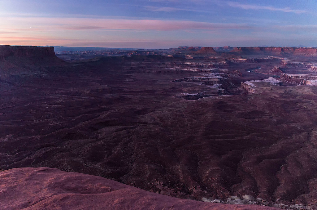 First light of a new day, Green River Viewpoint, Island in the Sky Unit, Canyonlands National Park, Utah